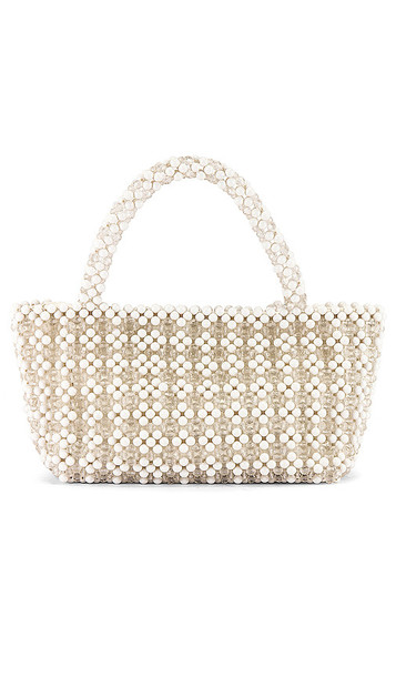 Show Me Your Mumu X Cleobella Clementine Beaded Bag in White