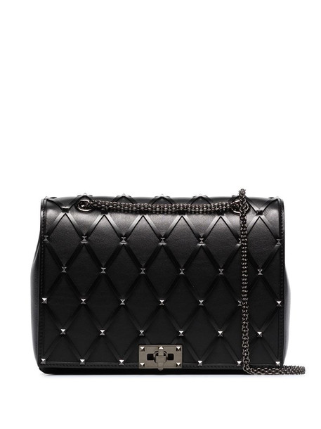 Valentino Garavani studded leather shoulder bag in black