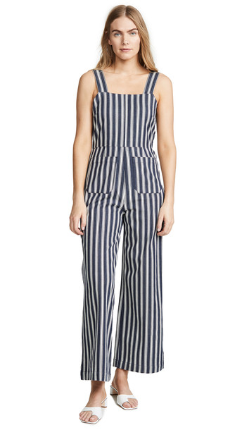 Rolla's Sailor Salty Stripe Jumpsuit in navy / white
