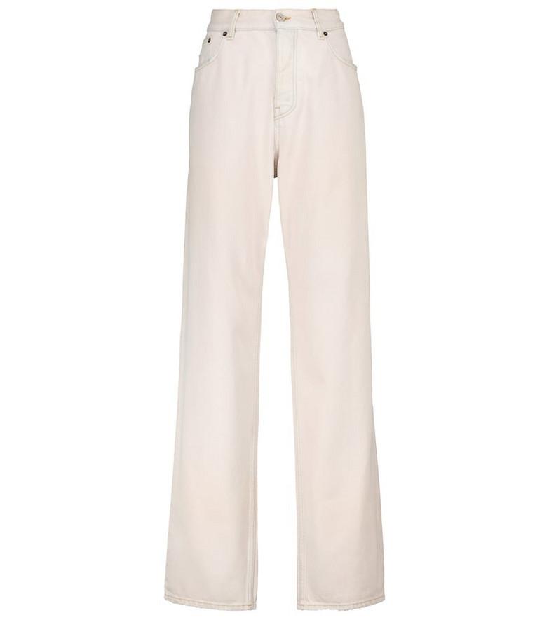 Balenciaga High-rise wide-leg jeans in beige