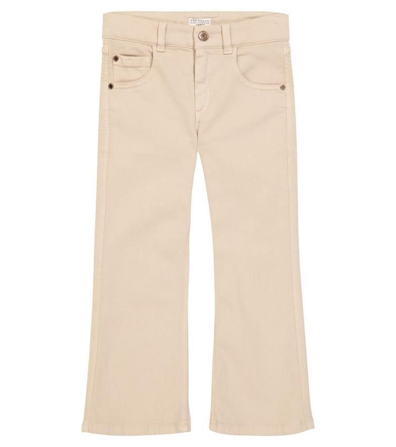 Brunello Cucinelli Kids Flared jeans in beige
