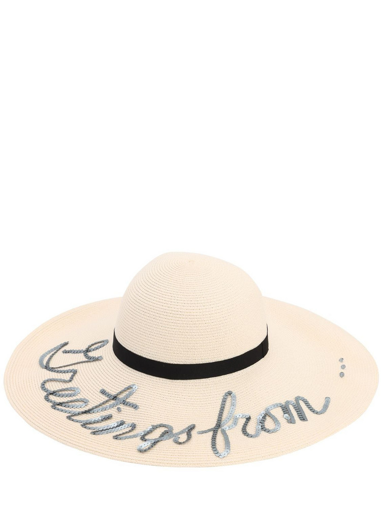 EUGENIA KIM Bunny 'greetings From.' Hat in ivory