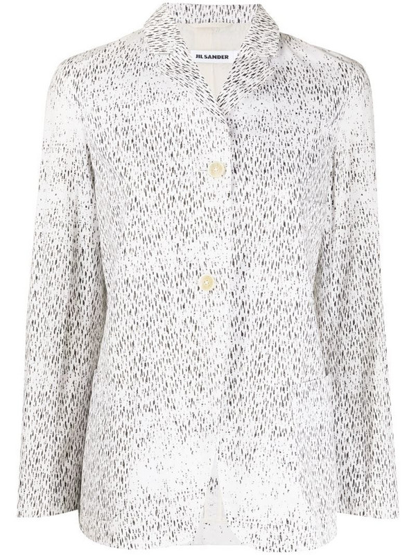 Jil Sander Pre-Owned 2000s dash print jacket in white