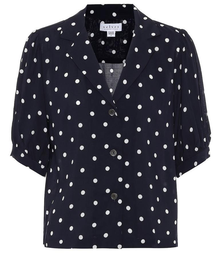 Velvet Kaden polka-dot shirt in blue