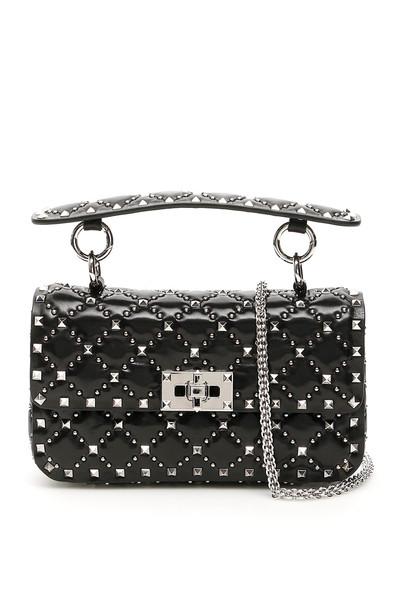 Valentino Garavani Small Rockstud Spike Bag in black