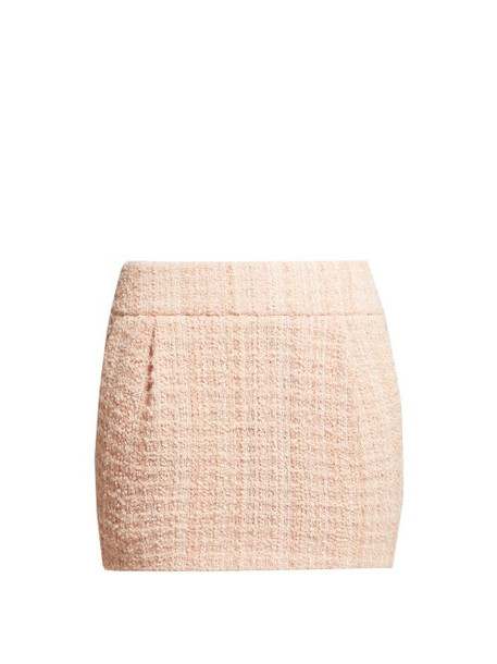 Alexandre Vauthier - Tweed Mini Skirt - Womens - Light Pink