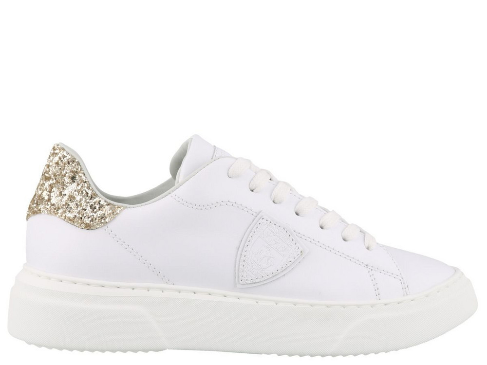 Philippe Model Temple Sneakers in gold / white