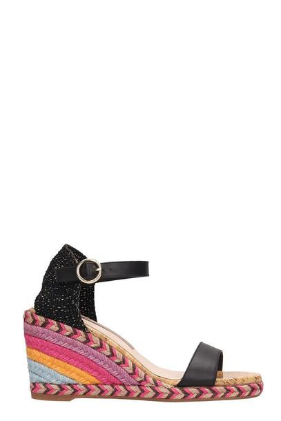 Sophia Webster Black Suede Lucita Mid Sandals