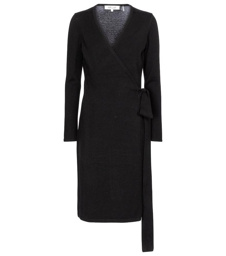 Diane von Furstenberg New Linda wool and cashmere midi dress in black