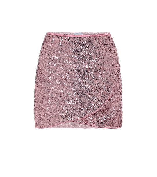 Oséree Exclusive to Mytheresa – Marilyn sequined miniskirt in pink