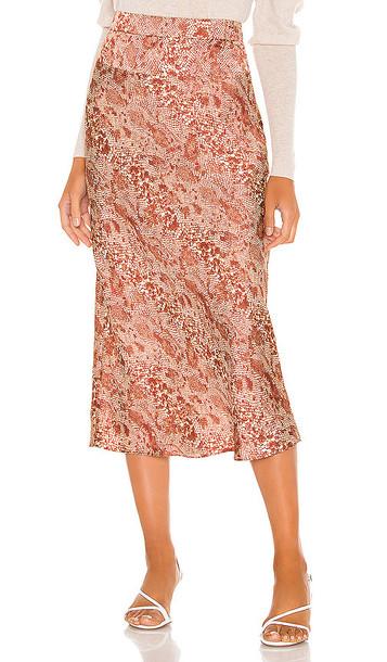 Free People Normani Bias Skirt in Brown