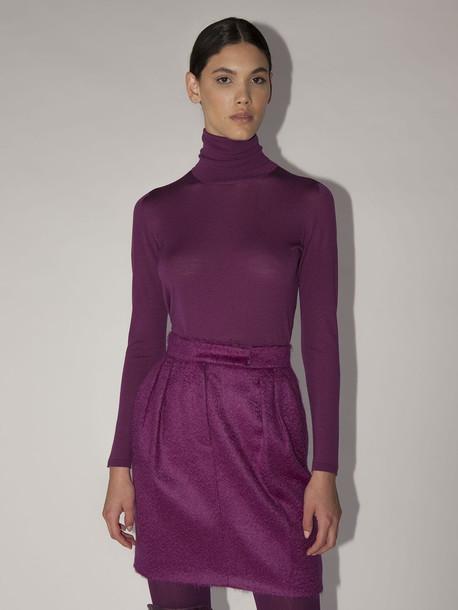 MAX MARA Lvr Exclusive Kipur Wool Knit Sweater in purple