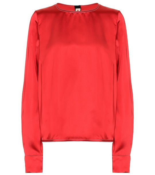 Marni Satin blouse in red