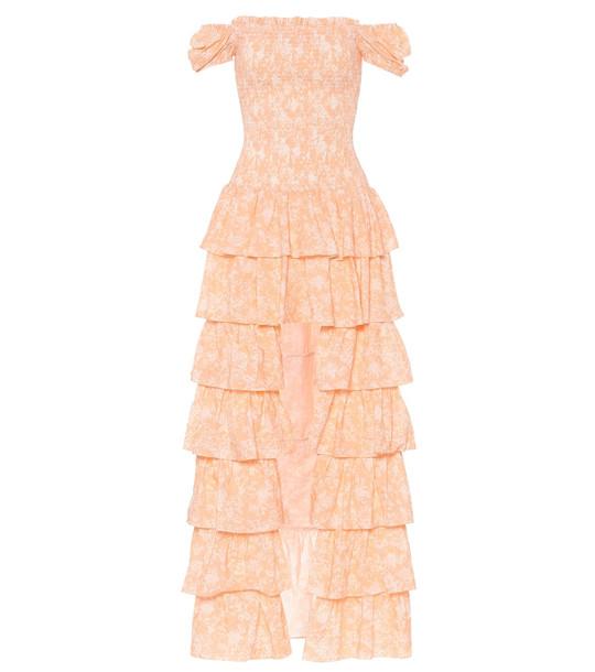 Caroline Constas Exclusive to Mytheresa – Malta off-shoulder cotton maxi dress in orange