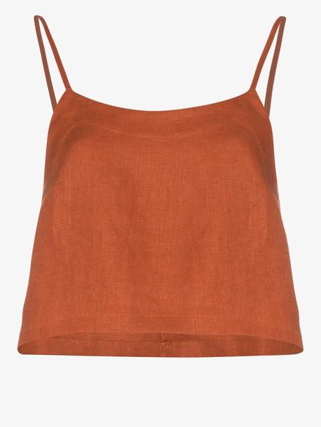 BONDI BORN BONDI B TOP FLARED CAMI RUST in orange