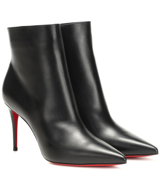 Christian Louboutin So Kate 85 leather ankle boots in black