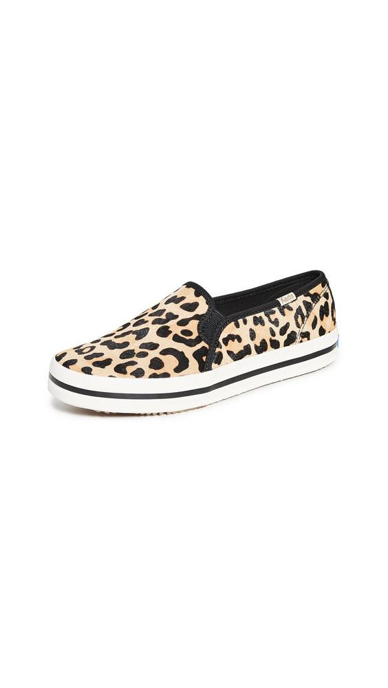 Keds x Kate Spade New York Double Decker Sneakers in tan / leopard