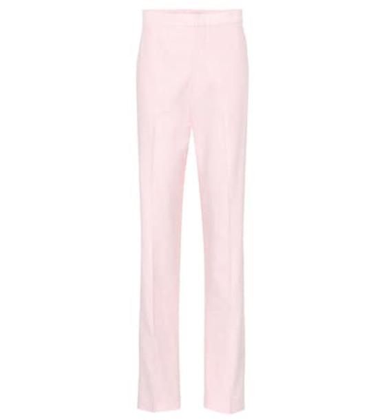 Tibi Sebastian high-rise straight pants in pink
