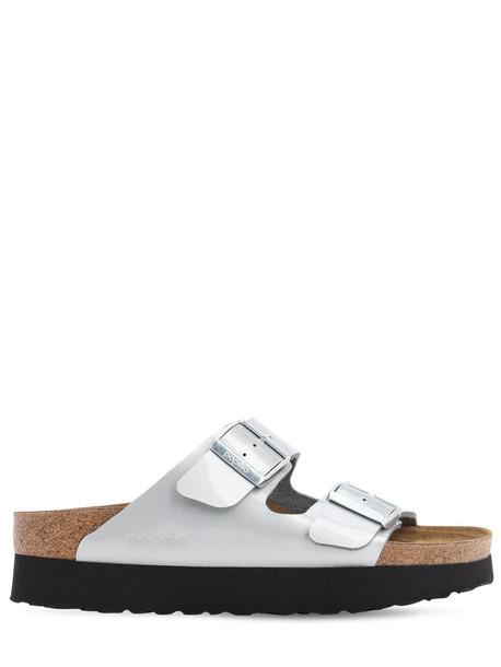 BIRKENSTOCK Papillio Arizona Platform Sandals in silver