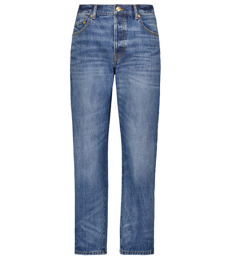 Tory Burch High-rise straight jeans in blue