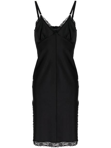 T By Alexander Wang lace trim slip dress in black