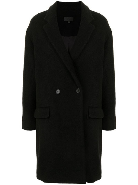 Nili Lotan Dylan double-breasted coat in black