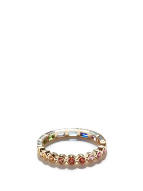 Yvonne Léon - Rainbow Gemstones & 9kt Gold Ring - Womens - Multi