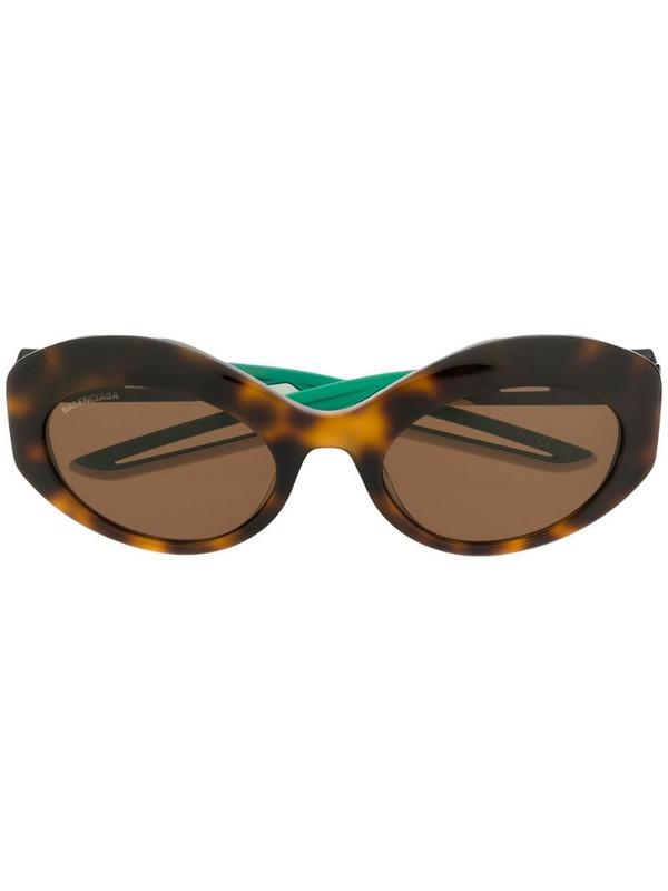 Balenciaga Eyewear Hybrid oval sunglasses in brown