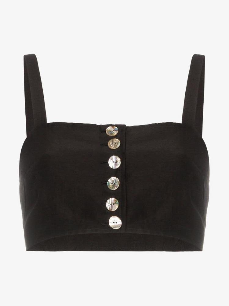 Maryam Nassir Zadeh button down sleeveless bralette in black