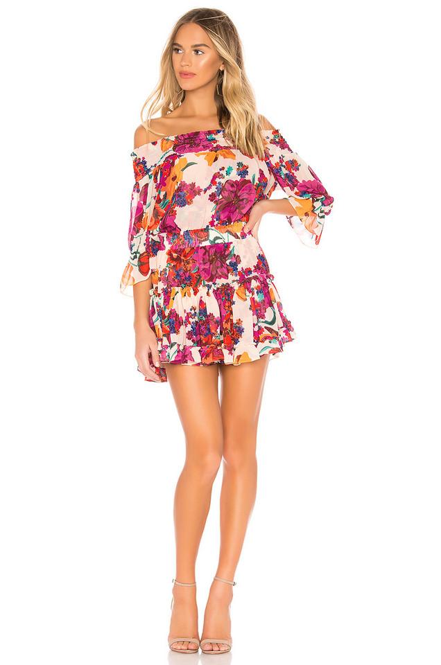 MISA Los Angeles X REVOLVE Darla Dress in burgundy