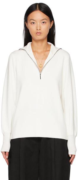 Studio Nicholson Off-White August Half-Zip Sweater
