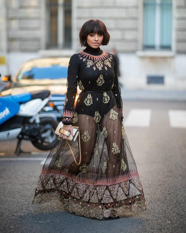 bag dior bag crossbody bag maxi dress long sleeve dress dior black belt black bodysuit turtleneck