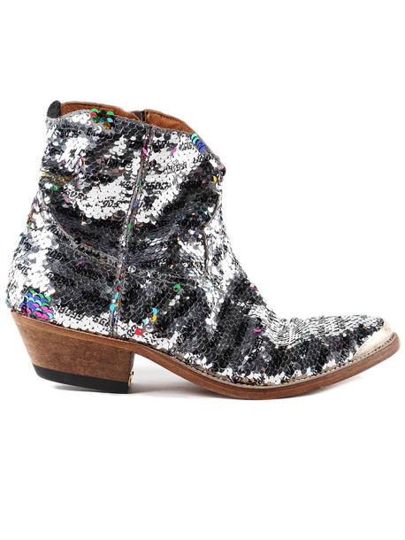 Golden Goose Boots Young in silver