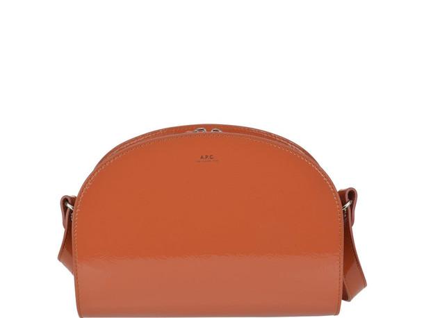 A.P.C. A.p.c. Demi-lune Bag in orange