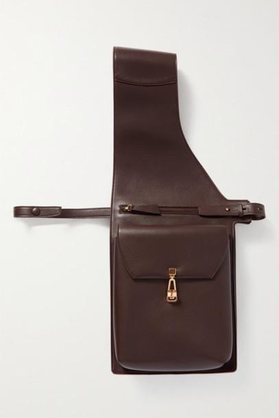 Gabriela Hearst - Saddle Leather Shoulder Bag - Burgundy