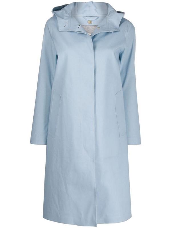 Mackintosh Chryston bonded coat in blue