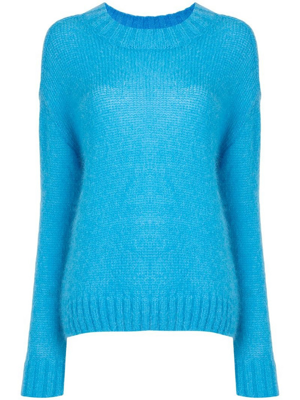 Goen.J slouchy soft jumper in blue