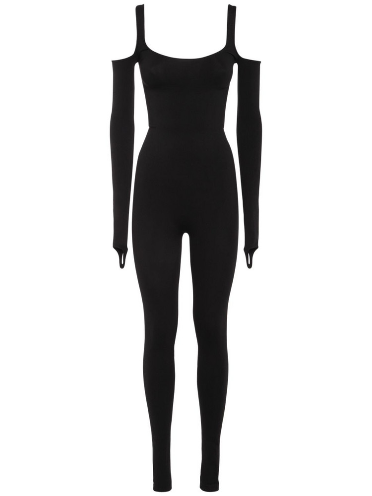 ANDREA ADAMO Sculpting Jersey L/s Jumpsuit in black
