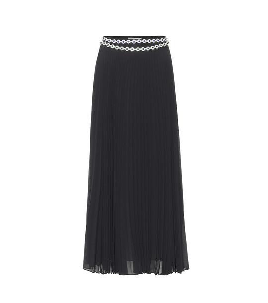 Christopher Kane Embellished pleated maxi skirt in black