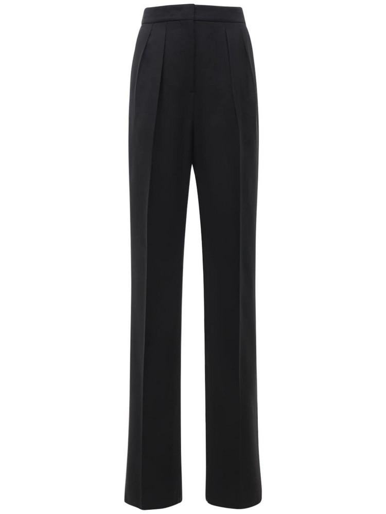 SPORTMAX Ovale Cotton Blend Double Batavia Pants in black