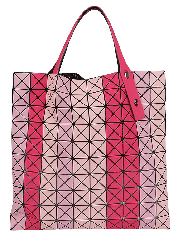 Bao Bao Issey Miyake Striped Prism Shopper Bag in pink