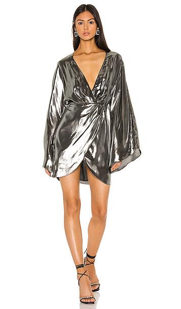 Michael Costello x REVOLVE Tiana Mini Dress in Metallic Silver