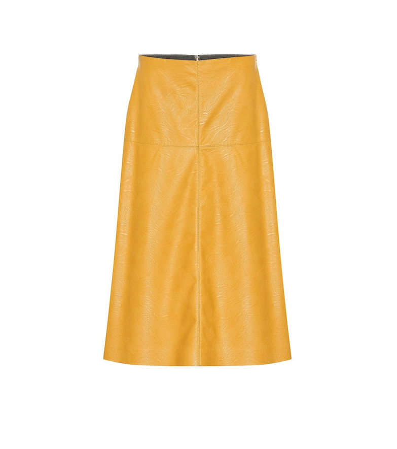 Stella McCartney Faux leather skirt in yellow