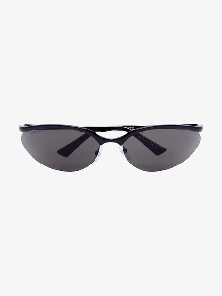 Balenciaga Eyewear Black metal frame cat eye sunglasses