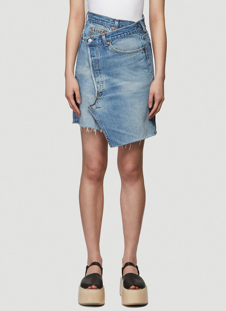 Bonum Denim Wrap Skirt in Blue size XS