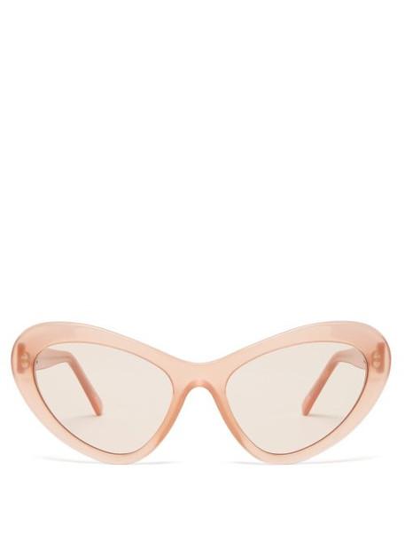 Andy Wolf - Blair Cat Eye Acetate Sunglasses - Womens - Light Pink
