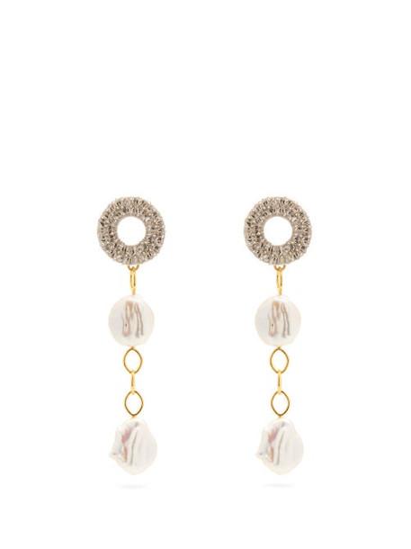Lizzie Fortunato - Chateau Freshwater Pearl Drop Earrings - Womens - Pearl