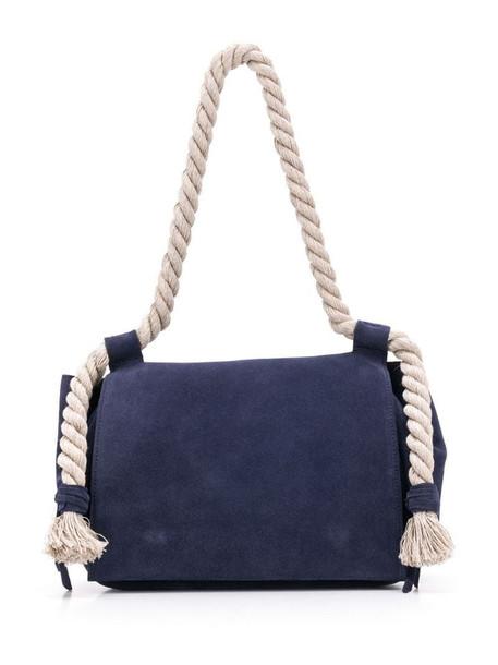 Elena Ghisellini rope handle tote bag in blue
