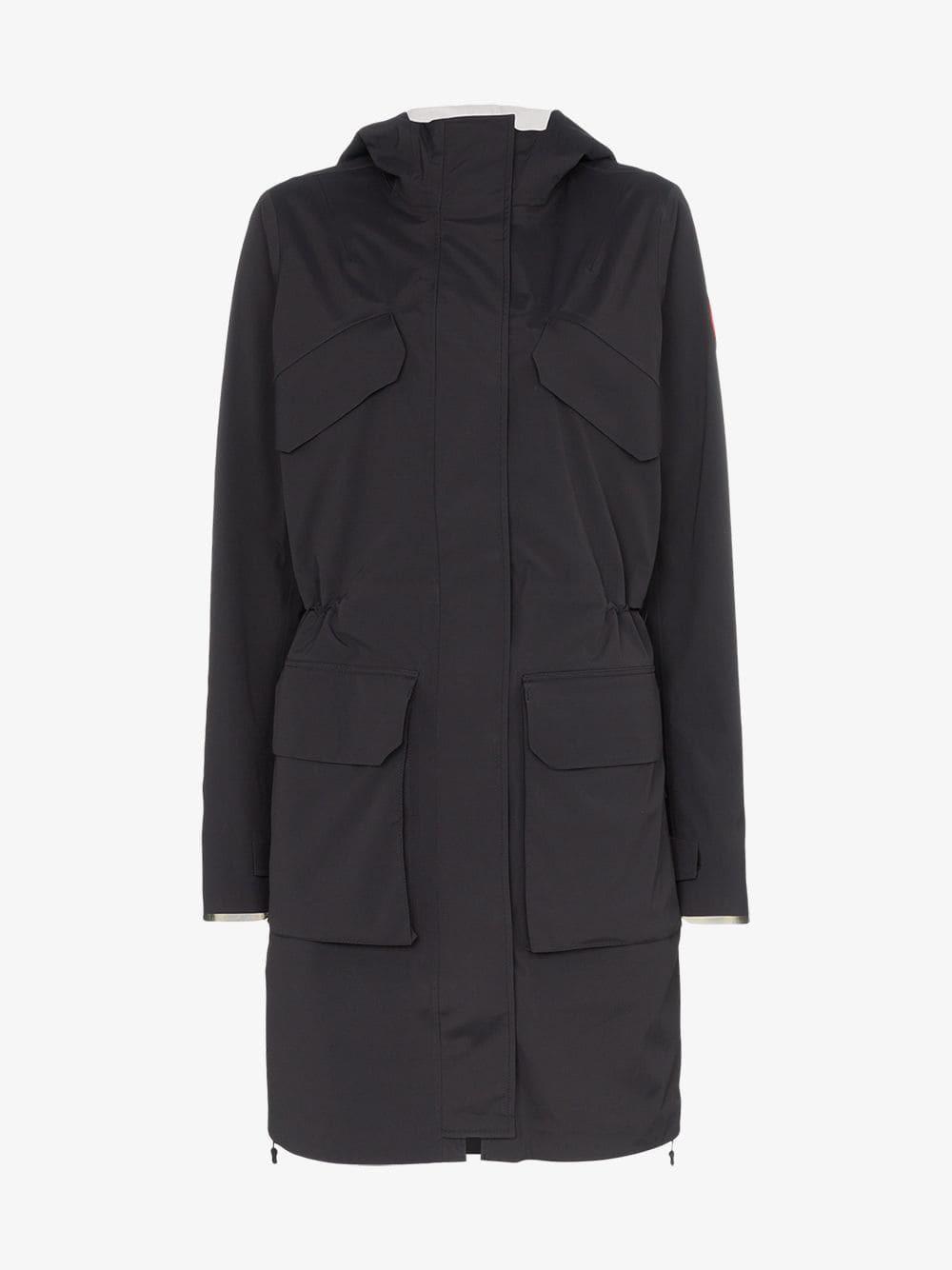 Canada Goose Seaboard reflective hooded jacket in black