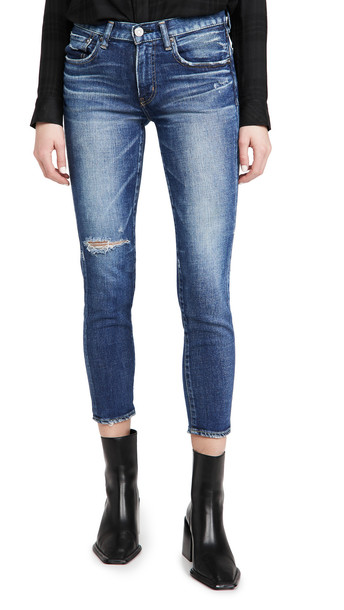 MOUSSY VINTAGE MV Falkner Skinny Jeans in blue